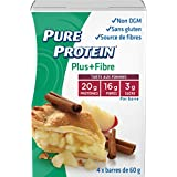 Pure Protein PLUS Fibre Bars, Gluten Free, Snack Bar, Apple Pie, 60 gram, 4 count