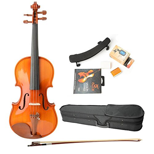 Astonvilla Av05 4/4 Brilliant Acoustic Spruce Wood Violin with Bag and Other Accessories Wood Color for Adults