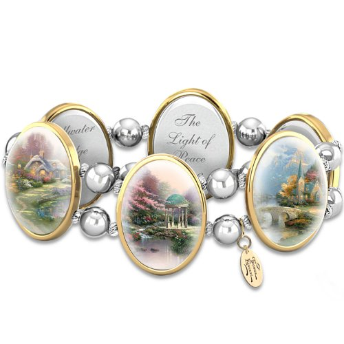 Thomas Kinkade Jewelry (Thomas Kinkade Bracelet: Moments Of Inspiration by The Bradford Exchange)