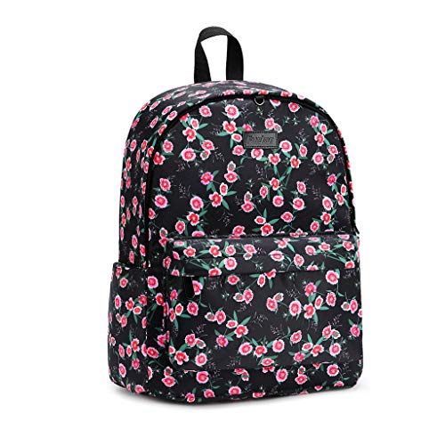 Fvstar Water Resistant Travel Backpack Sports Backpack College Satchel Laptop Bag Gym Shoulder Daypack Casual Camping Rucksack with Trolley Strap for Teen Girls and Women