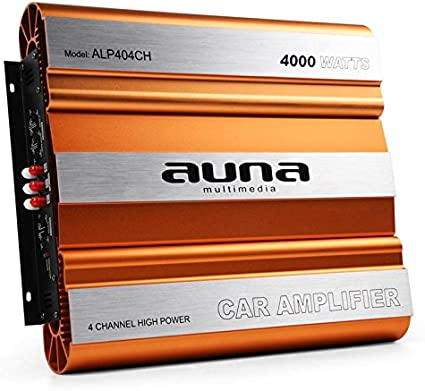 AUNA Amplificatore finale auto Hi-Fi car (4 x 1000 Watt max, 4
