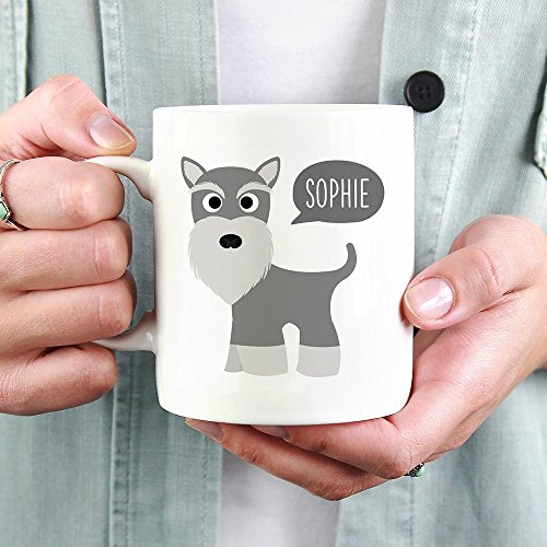 PERSONALIZED SCHNAUZER DOG MUG, Dog Funny Mugs, Dog
