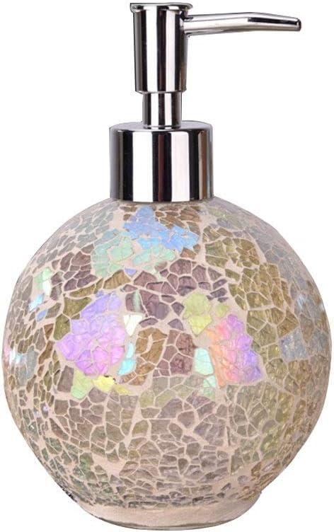 Color : Blue Liudan-Seifenschalen& spender Mosaik Glas Fl/üssigseifenspender Handbrausegel Badspender K/üche Badzubeh/ör