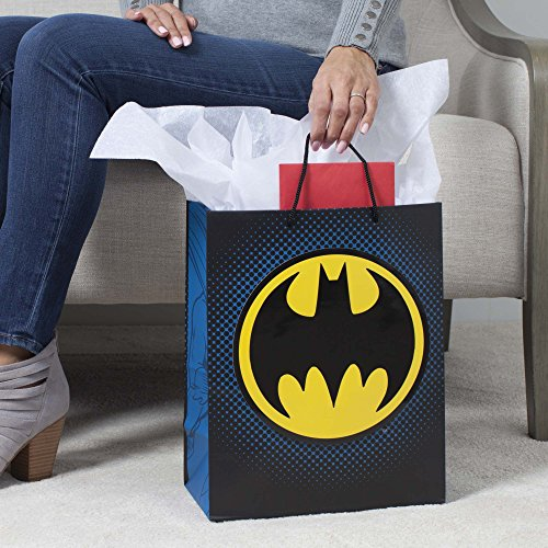 Hallmark Large Gift Bag with Tissue Paper (Batman Bat Signal)