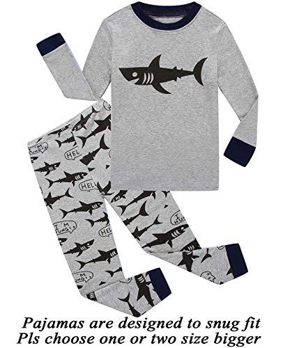 dd0cd0fa1d Dolphin Fish Boys Christmas Pajamas Little Kids Pjs Sets 100% Cotton  Toddler Clothes Sleepwears