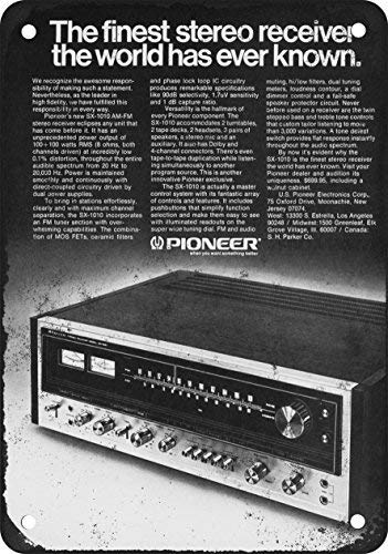 1974 Pioneer SX-1010 Stereo Receiver Vintage Look Reproduction Metal Sign Warning Saftey Sign Pre-drilled Holes for Easy Mounting (Best Pioneer Sx Receiver)