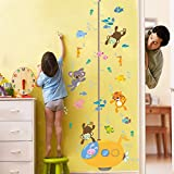 KELAI & craft art decor Cartoon Underwater World Fish Aquatic Creatures Height Wall Stickers Lovely Growth Chart Wall Decals for Children's Bedroom Living Room Nursery School (#3)