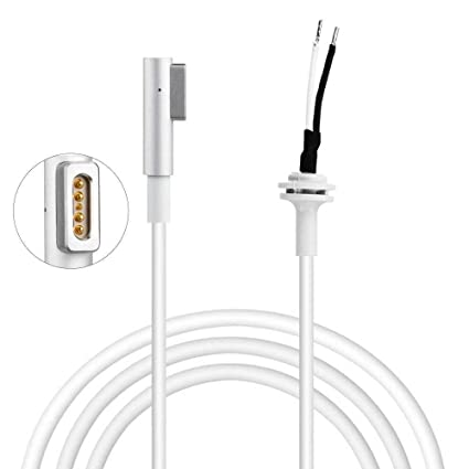 Cable de alimentación Cable de Recambio para Apple MacBook Pro DC Power Adapter Cable Cargador// 85 Watts, 45 Watts. 60 W, Color Blanco (Cable)