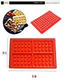 Brownie Pan -Waffle Makers for Kids Silicone Cake Mould Waffle Mould Silicone Bakeware Set Nonstick Silicone Baking Mold Set - Brownie Baking Pan