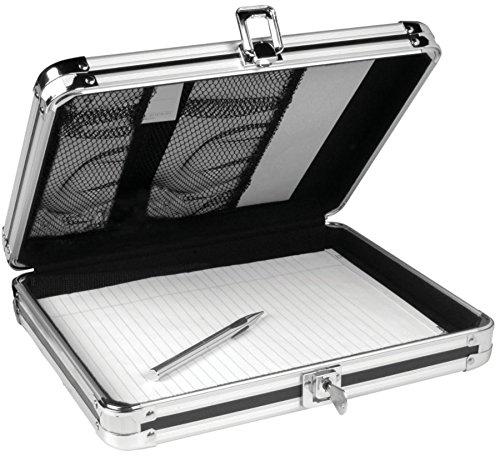 Vaultz Locking Storage Clipboard for Letter Size Sheets, Key Lock, Black (VZ00151) -