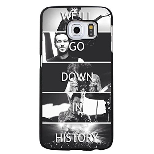 Samsung Galaxy S6 Edge Plus FOB Band Cover Shell Hybrid Retro Will Go Down In History EMO Rock Band Fall Out Boy Phone Case Cover for Samsung Galaxy S6 Edge Plus