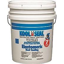 Kool Seal Elastomeric Roof Coating, White, 5 Gallon