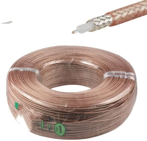 200 Feet RG316 Single Copper Braid Shielded RF Coaxial Cable