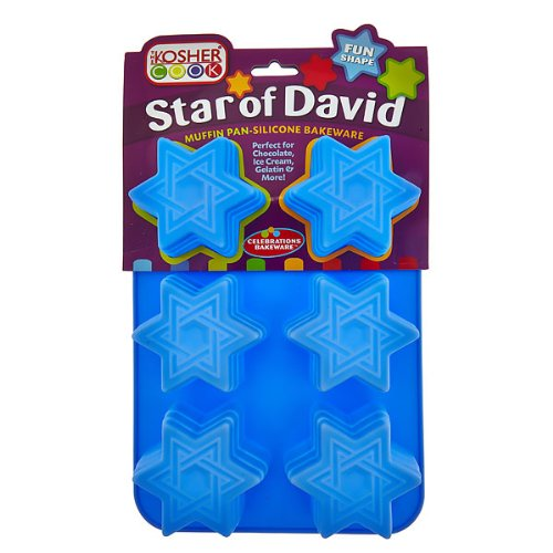 Kosher Muffins (The Kosher Cook KCBW0146 Silicone Star of David Muffin/Cupcake)