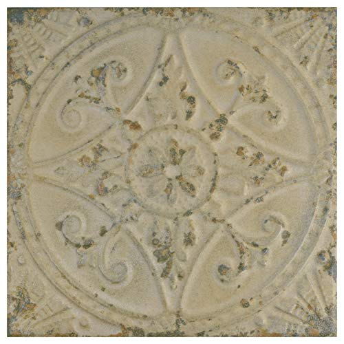 SomerTile FPESAJB Murcia Ceramic Floor and Wall Tile, 13'' x 13'', Blanco by SOMERTILE (Image #2)