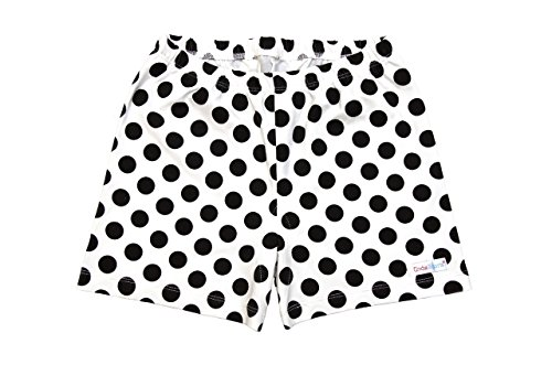 Big Girls All in One Under Shorts - Black Polka Dots - 12 ()