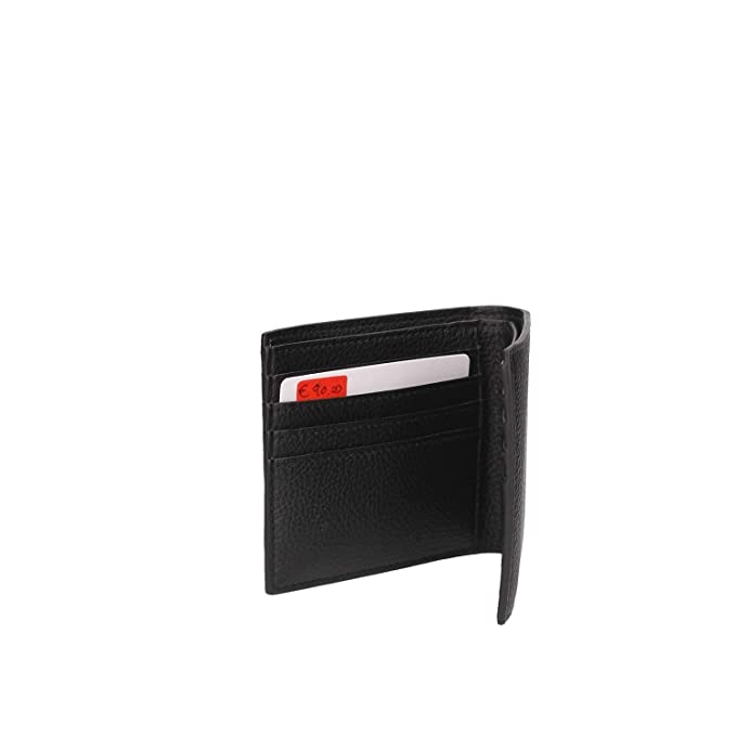 Armani Jeans Script Bilfold Wallet One Size BLACK: Amazon.es ...