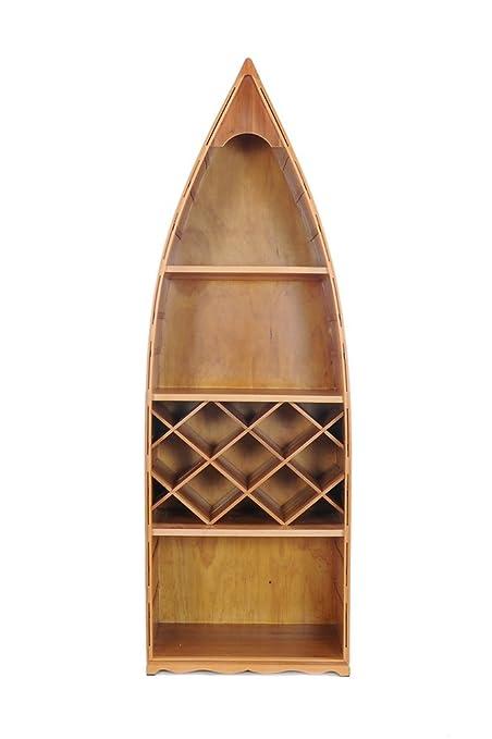 Amazon Com Old Modern Handicrafts Canoe Wine Shelf Collectible
