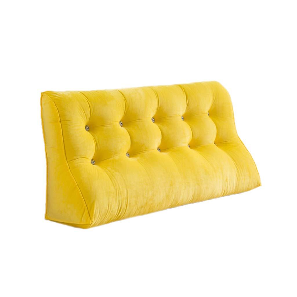 CHANG-pillows Morbido Cuscino, Camera da Letto Divano Doppio Cuscino Cotone Confortevole Cuscino Lavabile Proteggere la Vita Proteggere Il Collo Grande Cuscino (colore   Giallo, Dimensioni   150CM)