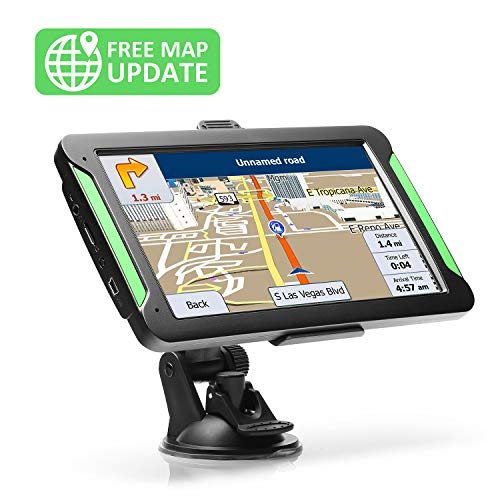GPS Navigation for Car, LTTRBX 7 Touch Screen 8GB Real Voice Spoken Turn-by-Turn Direction Reminding Navigation System for Cars, Vehicle GPS Satellite Navigator with Free Lifetime Map Update