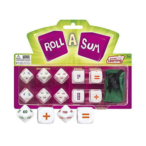 Junior Learning Roll a Sum Develop Mental Calculation and Counting Dice