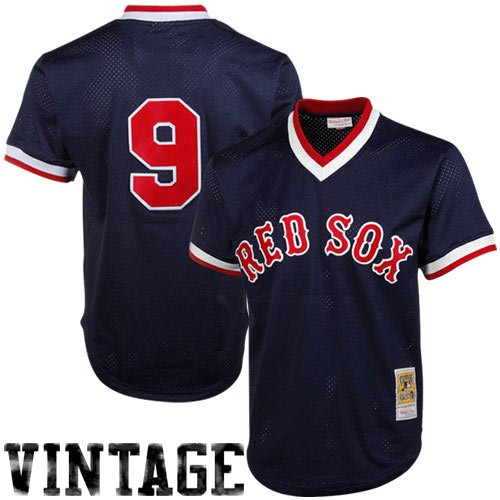 Ted Williams Navy Boston Red Sox Authentic Mesh Batting Practice Jersey Large (44)