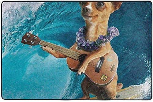 If Not Felpudo Chihuahua Perro Surfeando y Tocando Guitarra Área ...