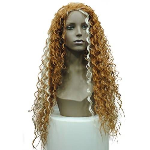 [European and American fashion wig curls loose hot wire black Africans long synthetic wig braids wig] (Wild Curl Black Wig)