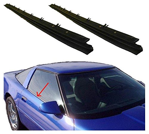 (Outer Belt Moldings Window Sweep Weatherstrips Pair Set for 84-96 Corvette)
