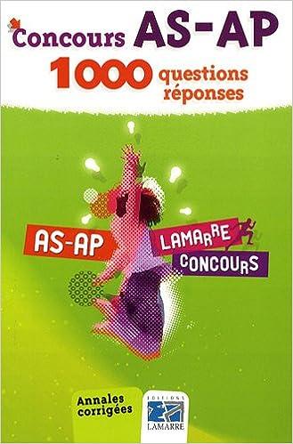 Livres Concours AS-AP : 1000 questions-réponses pdf