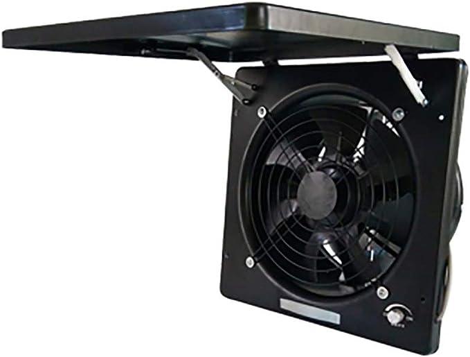13 inch extractor de aire baño, 220V extractor de aire Cocina, extractor de aire potente, Motor de ventilación de Aire, Tutto in metallo, Interruttore di velocità promettente,Black: Amazon.es: Hogar