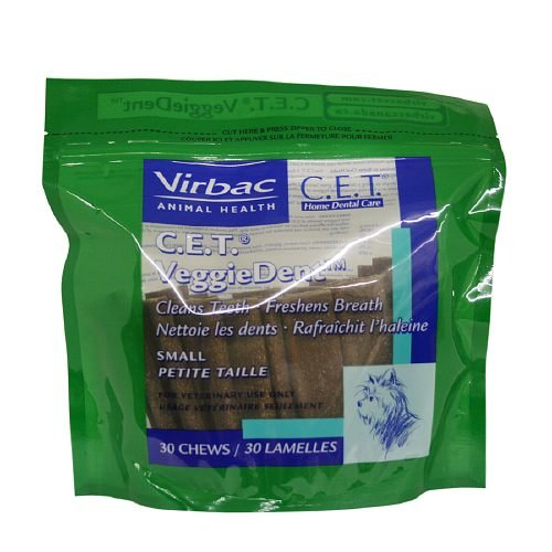 Virbac C.E.T. VEGGIEDENT Tartar Control Chews for Dogs, Small 30 ea(Pack of 1) by Virbac C.E.T.