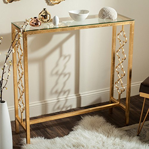 51FqYLW%2BgDL - Safavieh Home Collection Jovanna Gold Console Table