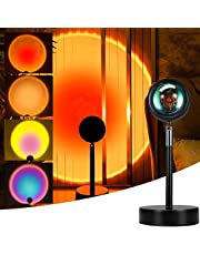Sunset lamp Multi Color, Projector Rainbow Light 180 Degree Rotation Led Night Lamp for Bedroom Decor/Photography/Selfie/Home Party, Romantic Night Light for Taking Pictures Live Broadcast…