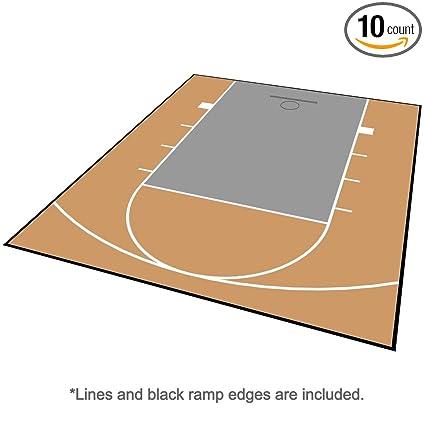 Amazon Com Modutile Outdoor Basketball Half Court Kit 20ft X 24ft