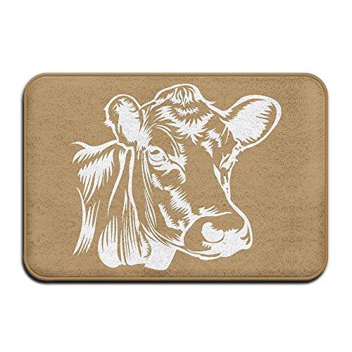 Cow Clip Art-1 Non Slip Indoor Carpet Pet Feeding Mat