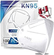 100Pcs_n95_Whitw_Masks in Bag, Unisex Adult 5-Layer Safety Filtеr Non-woven ,High Filtration and Ventilation S