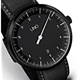 UNO AUTOMATIC BLACK EDITION - One Hand Men's Date Watch by Botta-Design - 619010BE by Botta-Design