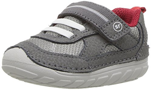 (Stride Rite Boys' SM Jamie Sneaker Grey 4.5 Medium US Toddler)