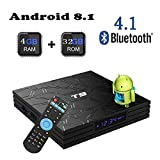 Newest 2018 Android TV Box,T9 Android 8.1 Boxes with 4GB RAM 32GB ROM