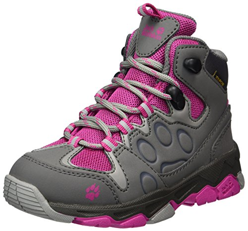 Jack Wolfskin Unisex-Kids Mtn Attack 2 Texapore Mid K Hiking Boot, Fuchsia, 6 M US Big Kid by Jack Wolfskin