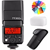 Godox TT350F 2.4G HSS 1/8000s TTL GN36 Camera Flash Speedlite for Fuji Cameras X-Pro2 X-T20 X-T2 X-T1 X-Pro1 X-T10 X-E1 X-A3 X100F X100T with EACHSHOT Color Filters