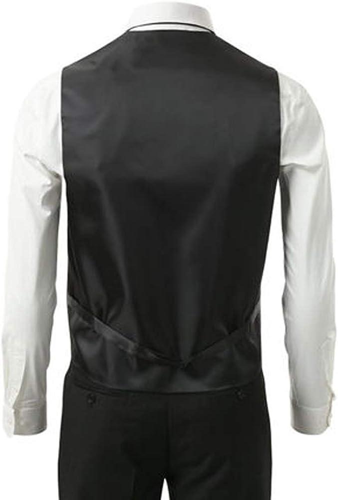 3 Pcs Vest Tie Hankie Yellow Fashion Mens Formal Dress Suit Waistcoat