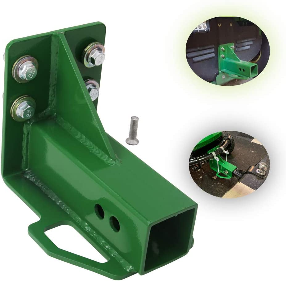 NIXFACE Rear Trailer Hitch Receiver Fit for John Deere Gator 4x2 6x4 Old Style W/Bolts Green