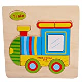 Boddenly Education Toys Wooden Cute Train Puzzle Educational Developmental Baby Kids Training Toy