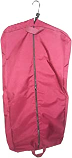 """product image for Garment bag, ladies dress length 46"""" Garment bag,carry-on size bag Made in U.s.a. (Maroon)"""