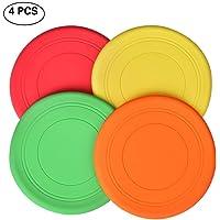 Queta towinle 4pcs Frisbee para niños Frisbi Soft