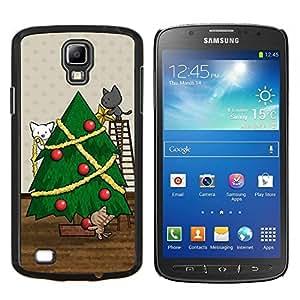 Stuss Case / Funda Carcasa protectora - Vacaciones de Navidad Gatos lindo dibujo - Samsung Galaxy S4 Active i9295
