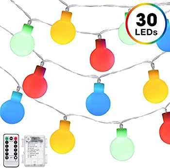 DecorNova Battery Operated Fairy Ball Globe String Lights
