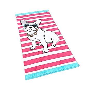 Stillshine Toallas de Playa, Niños Niñas Toalla de Dibujos Animados para niños 100% AlgodónToalla de Deportes para Hombre y Mujer 160 * 80cm (Perro): ...